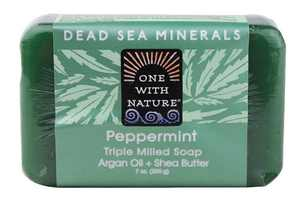 One With Nature One With Nature Dead Sea Mineral Hemp Soap Peppermint - 7 Ounce