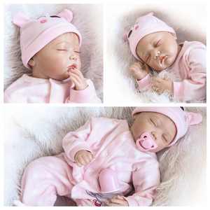 "Zimtown 22"" Handmade Lifelike Baby Girl Doll Silicone Vinyl Reborn Newborn Dolls"