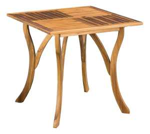 Outdoor Square Dining Table in Teak Finish