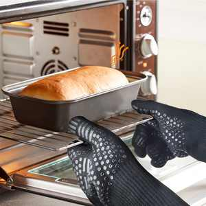 BBQ Gloves Set, Extreme Heat Resistant Grill Gloves Anti-Slip Aramid Fiber Grilling Gloves 923F Oven Gloves Mitts for Outdoor Cooking Oven BBQ Grill