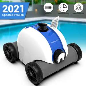 AUSONO Cordless Pool Cleaner for in-Ground and Above Ground Swimming Pool