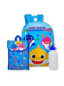 Baby Shark Yellow Shark Backpack Set, 5-Piece