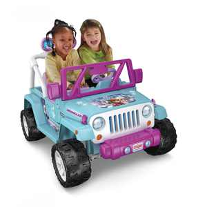 Power Wheels Disney Frozen Jeep Wrangler 12-V Ride On