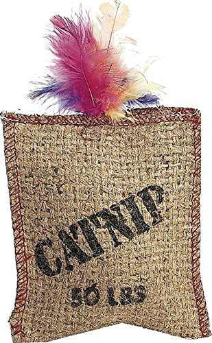 Ethical Pet Jute & Feather Catnip Sack Cat Toy