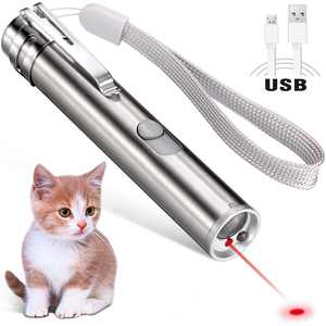 Rechargeable Cat Laser Pointer Toy, 3 Mode Red Laser Pointer, Interactive Light Training Tool with USB Charging for Cat Dog Exercise Playing