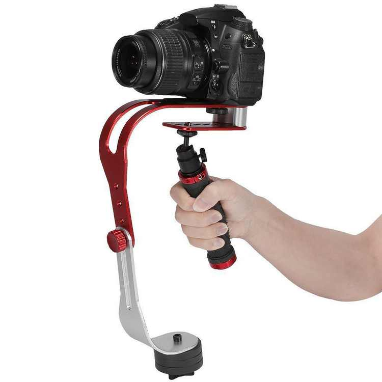 Pro Handheld Video Camera Stabilizer Steady for GoPro, Smartphone, Cannon, Nikon or any DSLR camera up to 2.1 lbs With Smooth Pro Steady Glide Cam