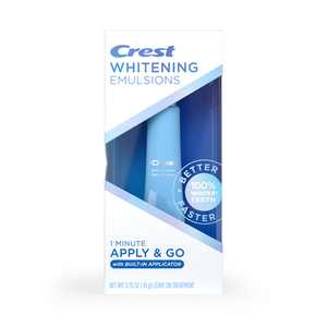 Crest Whitening Emulsions On-the-Go Leave-on Teeth Whitening Treatment with Built-In Applicator, 0.35 oz (10 g)