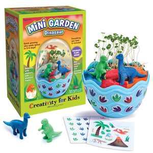 Creativity for Kids Mini Garden Dinosaur - Child, and Beginner Craft Kit for Boys and Girls