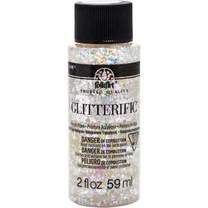 FolkArt 5874E Glitterific Acrylic Craft Paint, Hologram, 2 fl oz