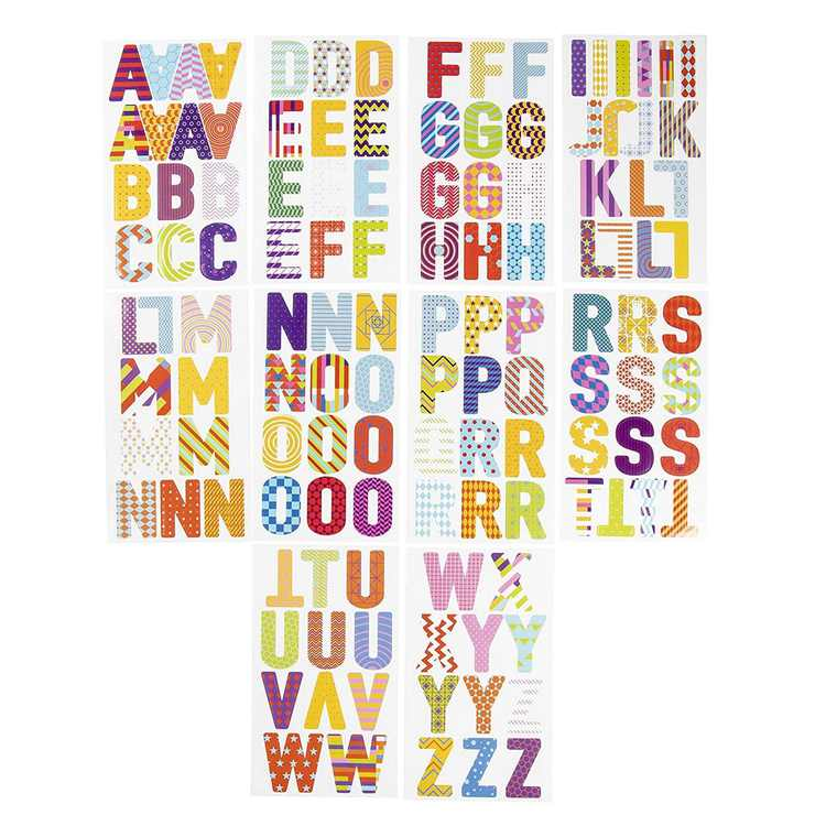 Letter Stickers - 333-Count Alphabet Stickers A-Z, Colorful Uppercase Letter Sticker Labels for Kids, Teachers, Students, Good for Crafts, Classroom Decor, Bulletin Boards, 2.5 inches High
