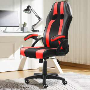Kadell PU Leather Racing Style Gaming Chair, Executive High Back Office Chair Computer Desk Task