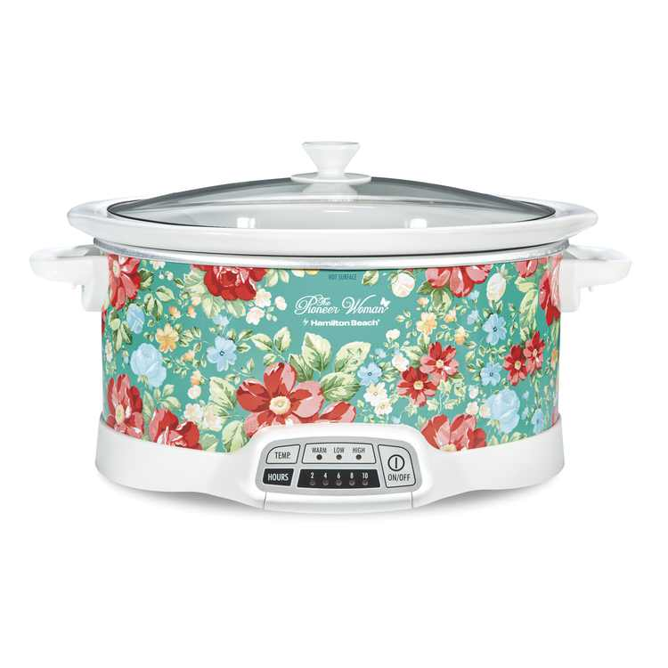 The Pioneer Woman Vintage Floral 7-Quart Programmable Slow Cooker, 33479