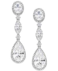 Oval Crystal Drop Earrings, Created for Macy's
