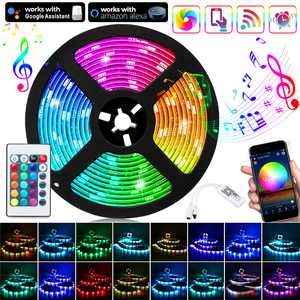 LED Strip Lights, 16.4ft(5m) Smart WiFi LED Lights Works with Alexa and Google Home, APP Control, 16 Million Colors, Music Sync, RGB Color Changing LED Strips for Bedroom, Home, TV, Kitchen, Party