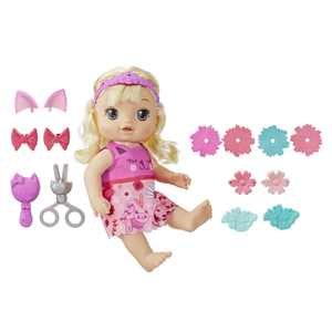 Baby Alive Snip 'n Style Baby Blonde Hair Talking Doll with Bangs that Grow