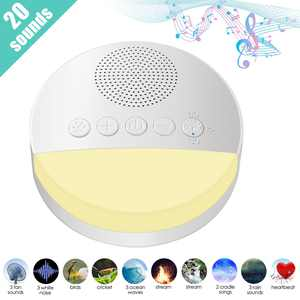 White Noise Machine for Sleeping, EEEkit Baby Sound Machine with Night Light, 20 Non-Looping Soothing Sounds, Timer, USB Cable & Memory Function for Office Privacy, Home, Travel, Adults, Kids