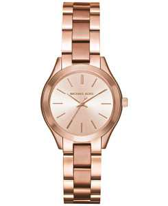 Women's Mini Slim Runway Rose Gold-Tone Stainless Steel Bracelet Watch 33mm MK3513