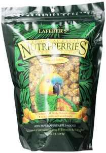 Lafeber's Gourmet Tropical Fruit Nutri-Berries for Parrot, 3-Lb Bag