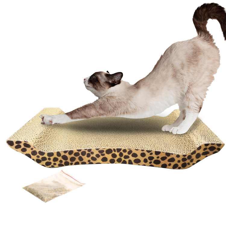 Zimtown Cat Scratcher Lounge Scratching Pad Reversible Corrugated Cardboard