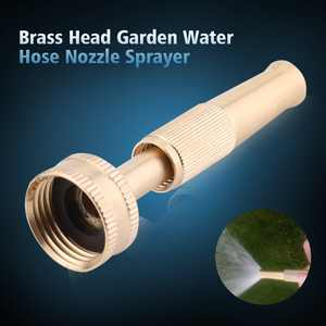 OTVIAP Adjustable Brass Construction High Pressure Spray Gun Head Garden Water Hose Nozzle Sprayer, Water Hose Spray Nozzle, Spray Nozzle