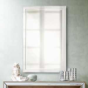 """Possini Euro Design Possini Euro Metzeo Chrome 22"""" x 33"""" Wall Mirror"""