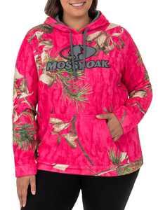 Mossy Oak Women's Camo Performance Pullover Fleece Hoodie
