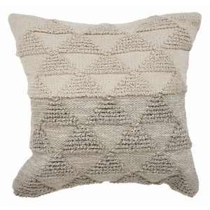 "Lr Home Contemporary Geometric Triangle Gray Natural Throw Pillow ( 18"" x 18"" )"