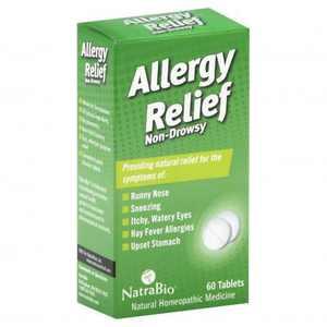 NatraBio Allergy Relief Non-Drowsy Tablets, 60 Ct