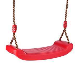 Indoor Outdoor Swing for Kids and Adults 330.7lb/150kg Weight Loading Capacity, Playground Swing Heavy-duty Swing Seat Anti-slip Plastic Swing Seat with Adjustable Hemp Rope