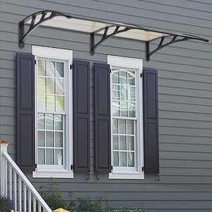 "UBesGoo 35.4""x 77"" Door Window Outdoor Awning Patio Cover Uv Rain Snow Protection Black Bracket"