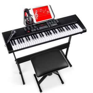 Best Choice Products 61-Key Piano Keyboard Set with LED Screen, Microphone, Stand and Stool