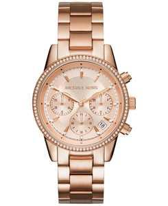 Women's Chronograph Ritz Stainless Steel Bracelet Watch 37mm MK6428/MK6357/MK6356