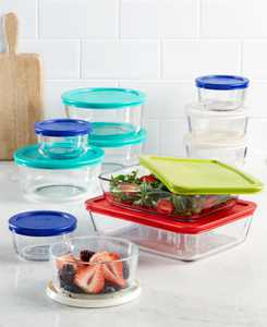 22 Piece Food Storage Container Set, Created for Macy's