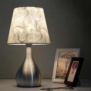 Novashion Cream Paisley Traditional Nickel Metal Table Lamp