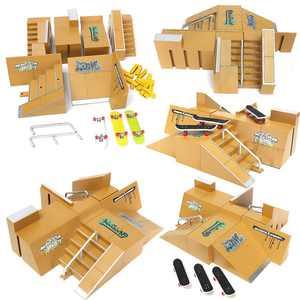Fingerboard Finger Board Ultimate Parks 92D/92C/ 92B Skate Park Ramp Parts For Boy Kids Children Toy Gift