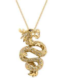 EFFY Diamond Dragon Pendant Necklace (5/8 ct. t.w.) in 14k Gold