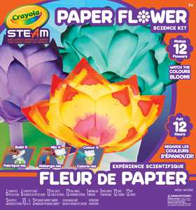 Crayola Steam Paper Flower Science Coloring Kit, Beginner Unisex Child, 12 Pieces