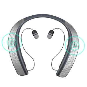 Bluetooth Headphones Speaker 2 in 1, EEEkit Wireless Headphones Neckband Wearable Speaker Retractable Earbuds 3D Stereo Sound Sweatproof Headset with Mic