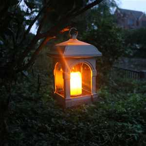 Bright Solar Lantern Candle Lights Waterproof Hanging Lamp Patio Lawn and Garden Decor