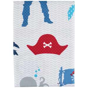 """Ahoy Mates Polyester Shower Curtain, Blue, 70"""" x 72"""", Mainstays Kids"""