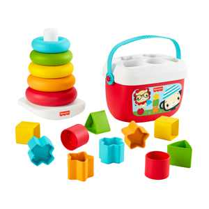 Fisher-Price Babys First Blocks & Rock-a-Stack, Plant-Based Toys
