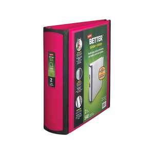 Staples Better 2-Inch D 3-Ring View Binder Pink (13570-CC) 55876/13570
