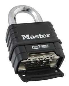MASTER LOCK 1178D Combination Padlock,Bottom,Black/Silver