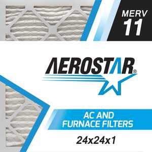 24x24x1 AC and Furnace Air Filter by Aerostar - MERV 11, Box of 6