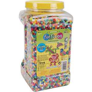 Perler Fuse Beads Fun Fusion Multi-Mix, 22,000 Beads, 30 Colors