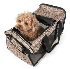 """Pet Life Airline Approved Dog Carrier, Brown, Small, 18""""L"""