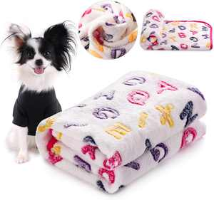 Puppy Sleeping Small Cats Bed Doggy Soft Warming Fleece Pet Dogs Blanket 104*76cm