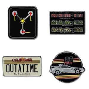Funko Enamel Pin Set: Back to the Future - Deloreon Time Machine (4 Pack) - Walmart Exclusive