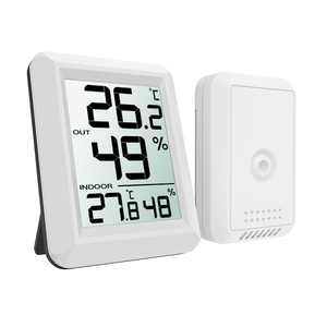EEEkit Digital Temperature and Humidity Monitor, Indoor Outdoor Thermometer, Temperature Humidity Monitor Meter with LCD Screen, Humidity Gauge for Home, Office, Baby Room, etc, 330ft/100m Range