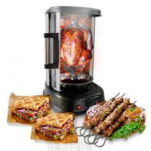 NutriChef PKRTVG34 - Vertical Rotisserie Oven - Rotating Kebob Cooker